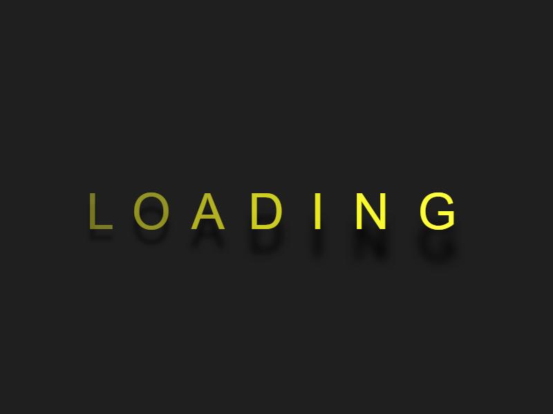 CSS Loading  文字動態